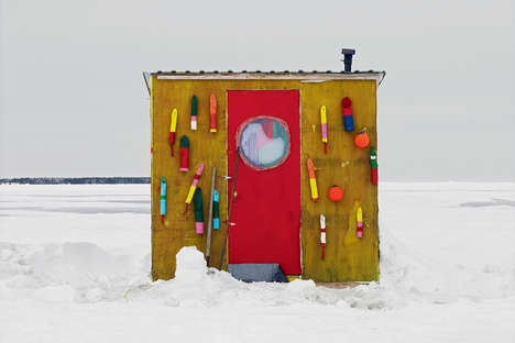 Boxed Fishing Hut Portraits - Richard Johnson's Image Series Explores Shelter Architecture
