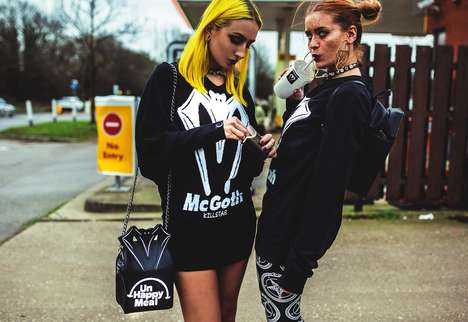 Ironic Goth Apparel - The Killstar 'Like It Fast' Lookbook Boasts Remixed Logos