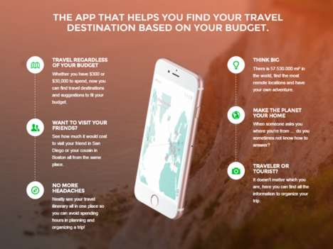 Budget-Specific Travel Apps - This App Helps Users Find Travel Destinations Based on Their Budget