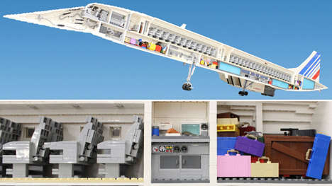 Supersonic LEGO Models - This Air France Concorde Model is Made Out of LEGO Bricks