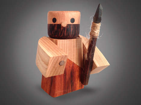 Wooden Warrior Figurines - These Wood Figures are Inspired by Epic Warriors Throughout Time