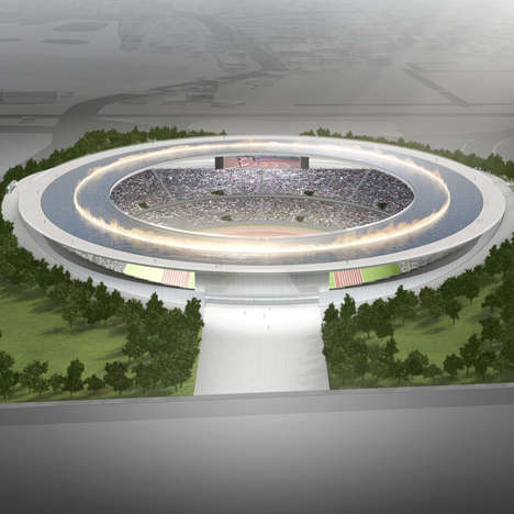 Pooled Roof Stadiums - Tokujin Yoshioka's Concept Design for Tokyo 2020 Olympics is a Large Ring