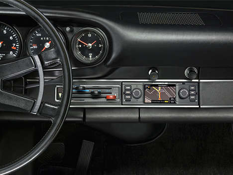 Classic Car GPS Systems - The Porsche Classic Navigation Radio is Designed for Retro Car Models