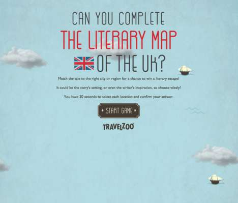 Literary Travel Games - Travelzoo's Map Challenges Bookworms to Win a Literary-Themed Holiday