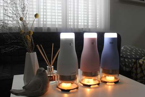 Candle-Powered LED Lights - The Lumir C Lamp is an Eco-Friendly Alternative to Battery Lanterns