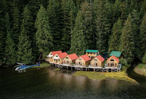 Remote Wilderness Retreats - These Private Log Cabins are Designed for Grizzly Bear Viewing