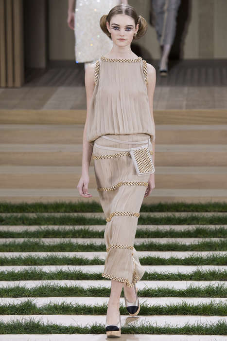 Naturalistic Couture Collections - The Chanel Spring Couture Range Honors Nature and Sustainability
