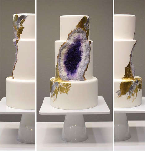 Delicious Geology Cakes - This Beautiful Cake Design Mimics Natural Rocks with Sweets