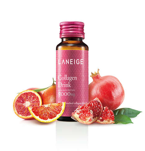 Antioxidant Collagen Beverages - The LANEIGE Collagen Drink Promotes Healthy and Hydrated Skin
