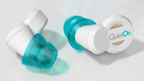 Noise-Banishing Earplugs - The QuietOn Active Noise Cancelling Earplugs Let You Soak In the Silence