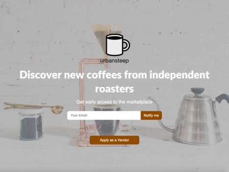 Coffee-Discovery Platforms - The 'Urban Steep' App is a Digital Marketplace for Specialty Coffee