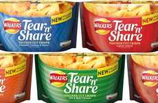Dishware Potato Chip Packaging - The Walkers Tear 'n' Share Bags Turn the Wrapper into a Bowl