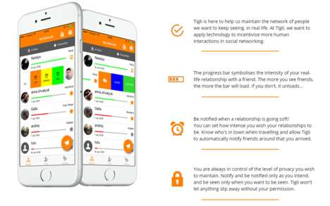 Relationship-Tracking Apps - The 'Tigli' App Helps Users Maintain Relationships Over Time