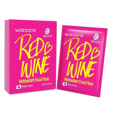 Red Wine Face Masks - This Taiwanese Antioxidant Mask Gets Its Power from Wine