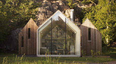 Individual Community Cabins - The Micro Cluster Cottages are Separated Rooms Linked in Space