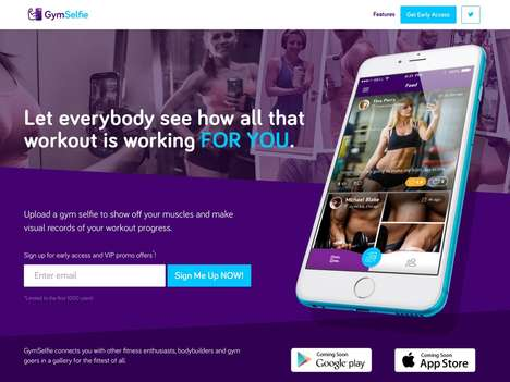 Fitness-Focused Photo Apps - The 'GymSelfie' App Helps Consumers Visually Track Their Progress