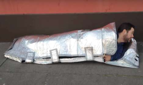 Bubble Wrap Sleeping Bags - These Sleeping Bags for Homeless People are Lightweight and Reflective