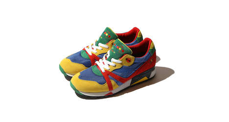 90s Flashback Sneakers - These Colorful Couture Runners are Reminiscent of Childhood Playmats