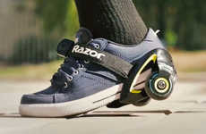Strap-On Sneaker Wheels - The New Strap-on Jetts Turn Any Pair of Shoes into Rolling Footwear