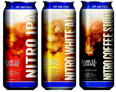 Nitrogen-Infused Beers - The Samuel Adams Nitro Project is Replacing Carbonated CO2 in Brew Blends