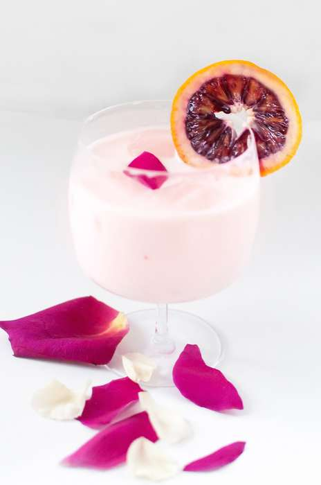 Floral Creamsicle Cocktails - This Blood Orange and Rose Water Drink is Perfect for Valentine's Day