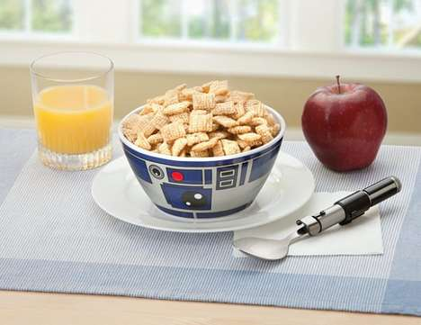 Geeky Drone Dishware - These R2-D2 Bowl Designs Add Sci-Fi Flair to Kitchen Decor