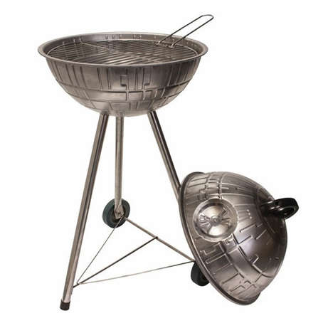 Geeky Space Station Barbecues - This Spherical Barbecue Grill is Looks Like the Legendary Death Star