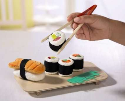 Plush Sushi Play Sets - These Colorful Pieces of Sushi are Made from Felt Materials