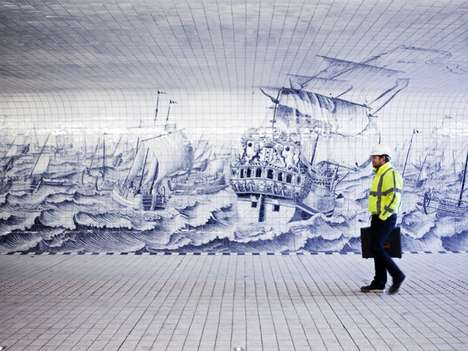Nautical Transit Murals - Irma Boom's Latest Project Beautifies Amsterdam's Central Station