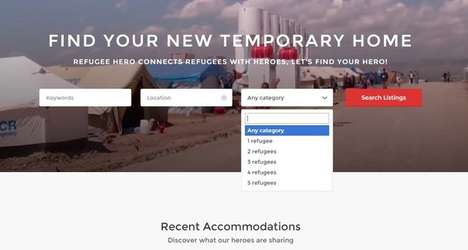 Refugee Housing Platforms - The 'Refugee Hero' Platform Helps Migrants Find Temporary Accommodations