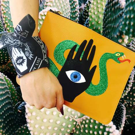 Mystical Accessory Collections - These Poppy Lissiman Clutches Bring a Spiritual Theme to Life
