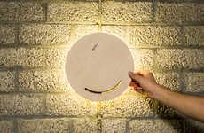 Interactive Illumination Solutions - The 'MATlamp' Wall Lamp Design Works via Rotational Movements