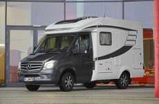 Luxury Van Motorhomes - The New Mercedes Hymer Van S 500 Provides Functional Travel Accommodations