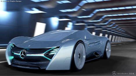 Sculptural Super Cars - The ELK Electric Car Concept by Antonio Paglia Imagines a Future Mercedes