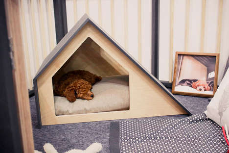 Contemporary Dog Houses - The Bad Marlon Dog Houses are Minimalistic and Modern