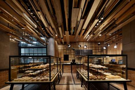 Timber-Clad Bakery Ceilings - This Beijing Bakery is Inspired by Traditional Taiwanese Bread