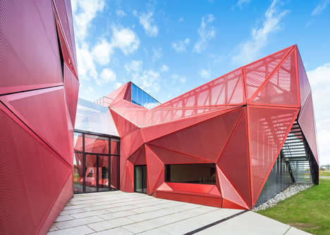 Bold Geometric Buildings - The Espace Culturel de La Hague Building Features a Unique Angular Design
