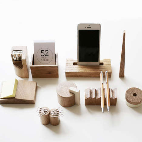 Constructivist Desk Sets - This Wooden Desk Set Celebrates Avant-Garde Russian Architecture