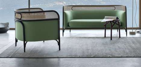 Rustic Retro Love Seats - The Targa Two-Seat Sofa Provides Comfortable, Design-Conscious Seating