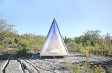 Stylish Swedish Camping Equipment - The 'Wax-On Tent' is Crafted Using Swedish Pine and Waxed Cotton