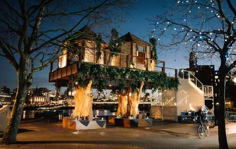 Urban Safari Treehouse Pop-Ups - This Enormous Activation is for the Lion Sands Game Reserve