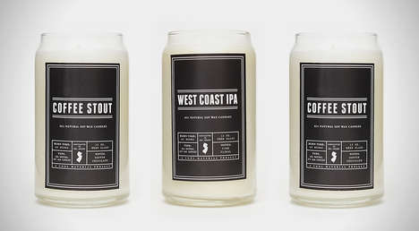Crafty Beer-Scented Candles - These Craft Beer Candles Deliver the Familiar Scent of a Fresh Brew