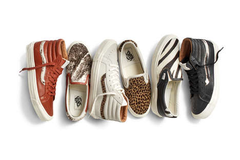 Animalistic Skater Shoes - The Latest Vans Spring Collection Features Exotic Animal Print