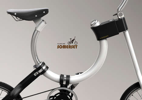 Thoughtful Twisting Bicycles - The Somerset Folding Bike by Kaiser Chang Boasts a U-Shaped Frame