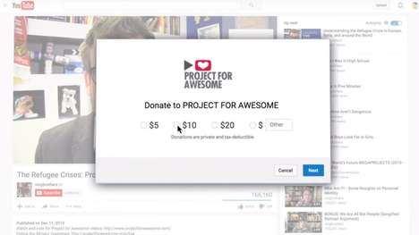 Charitable Video Features - YouTube is Introducing Donation Cards so Creators Can Give Back