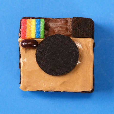 Edible Social Media Logos - These Homemade Brownies are Transformed into the Instagram Logo