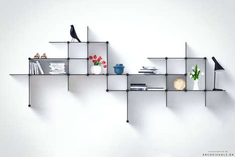 Flexible Shelving Systems - The Up the Wall Racks Let Consumers Customize the Configuration