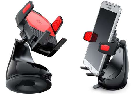 Handsfree Smartphone Chargers - The Montar Air Qi Car Mount Charges Devices without Wires