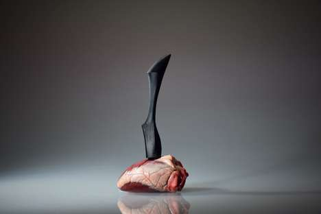Volcanic Blade Knives - The 'Ab Ovo' Meat Knife is Designed to Slice Through Anything with Ease