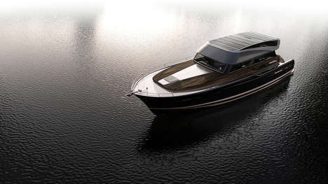Car-Inspired Modern Yachts - The Hyperlien 'Modern Classic Gran Torino' Yacht is Well-Appointed